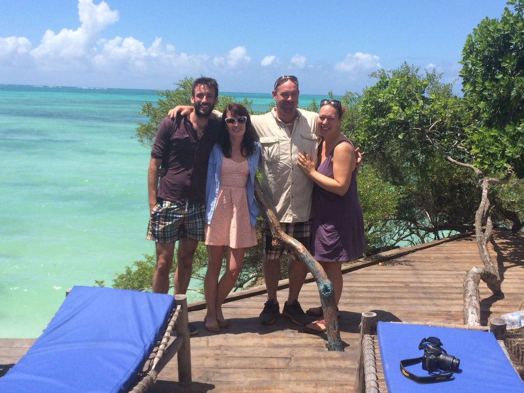 Our lovely peeps Chris & Lisa who we climbed Kili with & then met up in Zanzibar