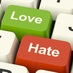 Love and Hate in social