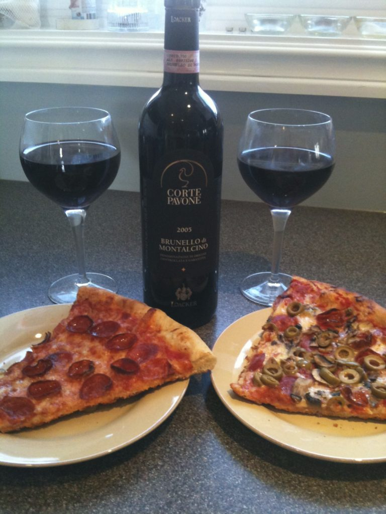 Pizza and a beautiful wine in Sept