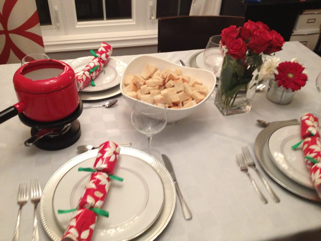 Our turkey dinner became Christmas fondue days later