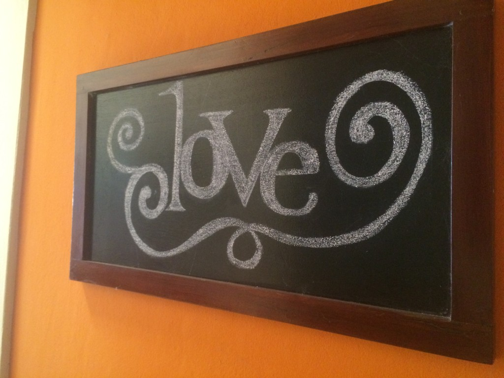 This beautiful shoutout was found in a cafe in Granada, Nicaragua