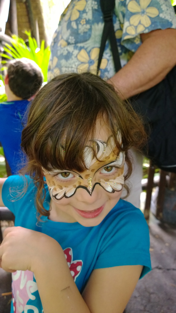 Deluxe face painting- Animal Kingdom- Disney World, survive Disney with special needs