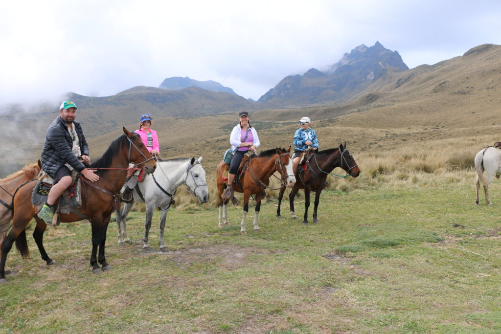 Nothing better to talk through volcanos and tectonic plates than by trekking up one on horseback. 4100m on Pinchincha