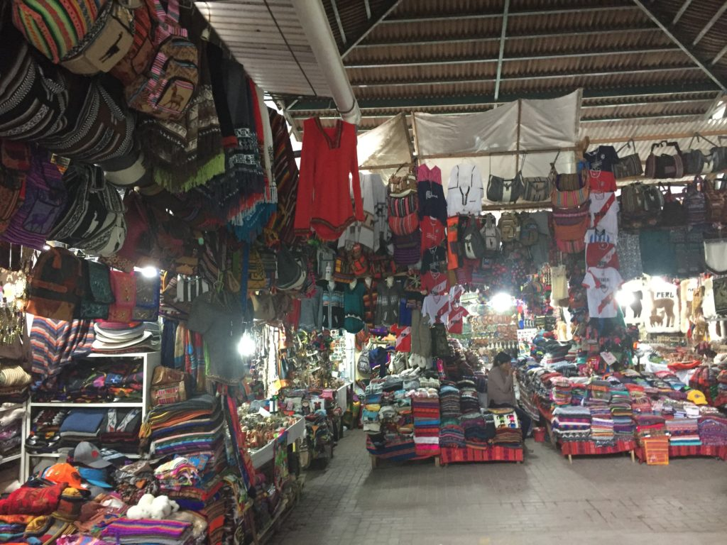 The market in Aquas Calientes is so very full of the usual tourist chotchkes. We get it. It's the only source of economy in the town.